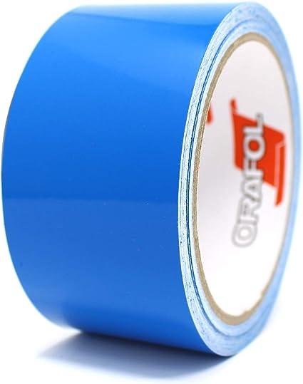10 metros tiras decorativas para coche moto barco modelismo rayas para la artesan/ía manualidades 1,68/€//m Azul brillante, 30mm
