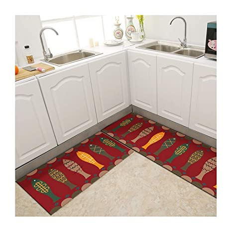 Amazon.com: Modern Rectangle Mat for Kitchen, Non-Slip ...