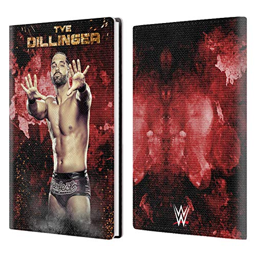 Official WWE LED Image Tye Dillinger White Gray Leather Passport Holder