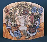 Stupell Industries 3 Panel Decorative Fireplace Screen, Pots and Ivy, 27'' x 35'' by .375 Inches