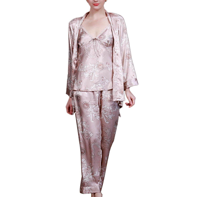 Zhhlinyuan Womens Mens Nightwear Satin Dressing Gown Robe Kimono Sleepwear Lingerie TZ013