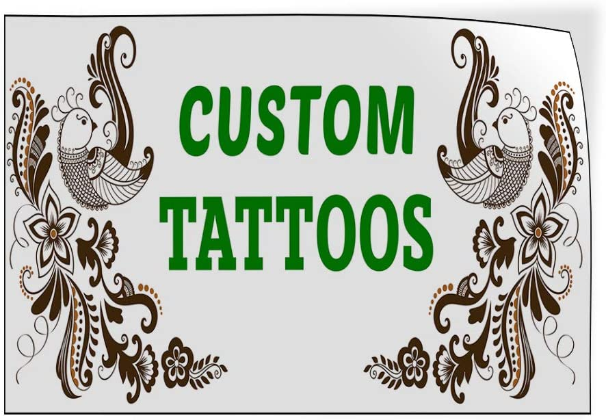 Custom Door Decals Vinyl Stickers Multiple Sizes Custom Tattoos Green Business Tattoo Outdoor Luggage /& Bumper Stickers for Cars Brown 58X38Inches 1 Sticker