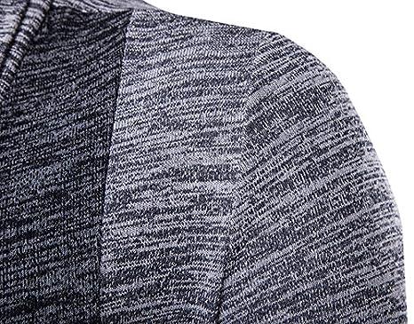 LemonGirl Mens Long Sleeve Cardigans Open Front Shawl Collar Cardigans Sweater