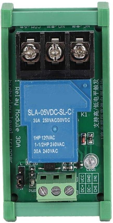 Oumij Módulo de Relé de 5V Módulo de Relé de Disparador ATO/bajo de 1 Canal 30A Multifuncional con Aislamiento de Optoacoplador(24V)
