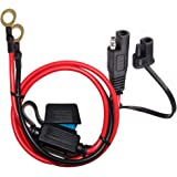 YETOR SAE to O Ring Terminal Harness, with 15A Protection Fuse for Safety, 2-Pin Quick Disconnect Plug,SAE Battery Extension Cable with 2FT 10AWG for Motorcycle Cars. (100CM)