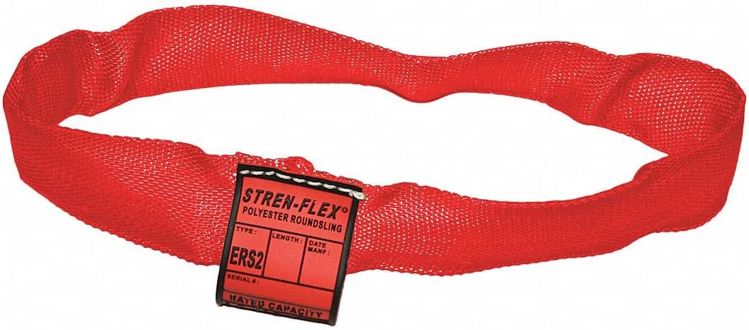 Color Code: Red Type 5 Round Sling Polyester Endless 1-3//8 Diameter 6 ft