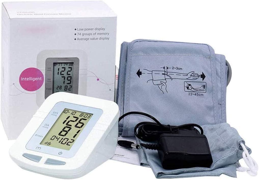 JXM Monitor De Presión Arterial, Tensiometro del Brazo Superior Presurización Inteligente LCD Digital Preciso con Brazalete Monitor De Salud En El Hogar para Medir La Hipertensión En El Hogar