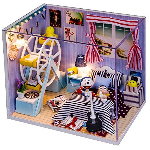 お買い得モデル Rylai Wooden Handmade Dollhouse For Miniature DIY Kit For Girls Dollhouses Wooden - Stand by Me Series DIY Assembling Model 3d Puzzle Building Toys Gift For Child Wooden Dollhouses & Furniture/Parts B01DBSEKFI, ヨネザワシ:b6d03203 --- diceanalytics.pk