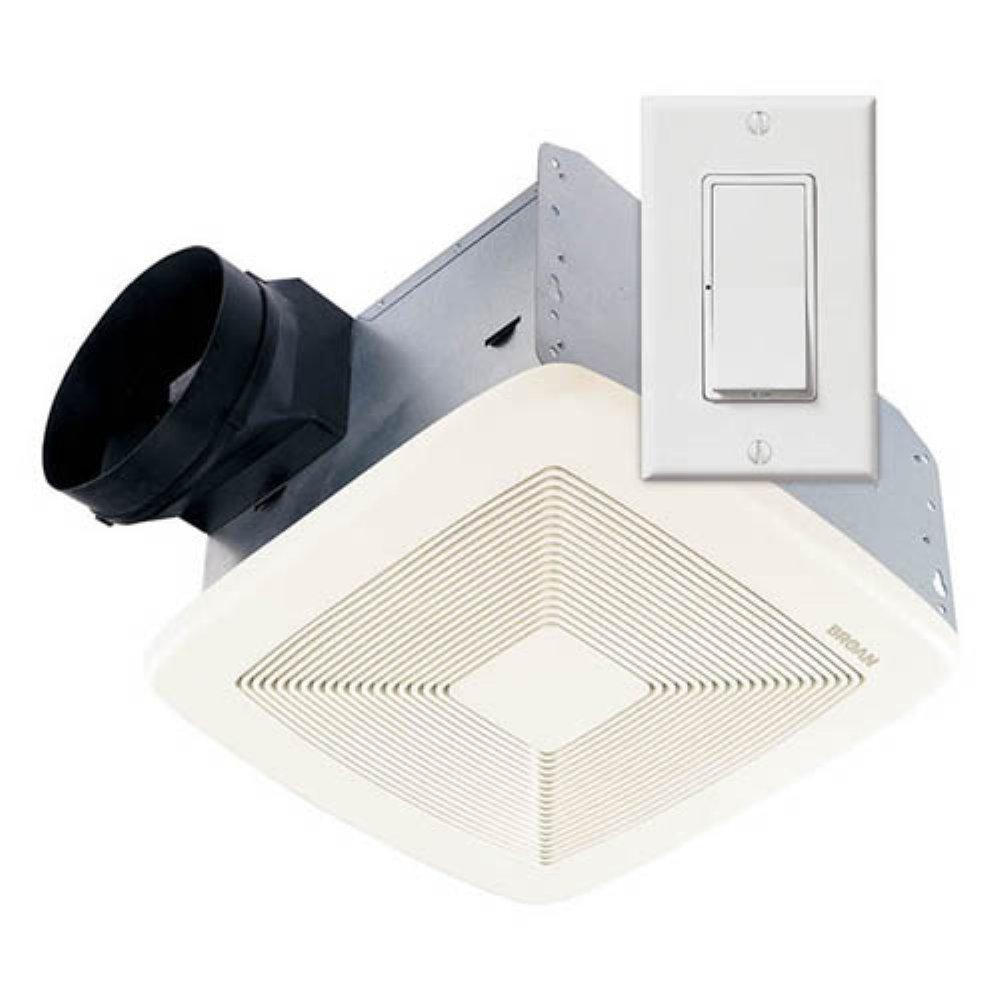 Broan SSQTXE080 Smart Sense Fan with Control White Grille StandardPlumbing Kohler
