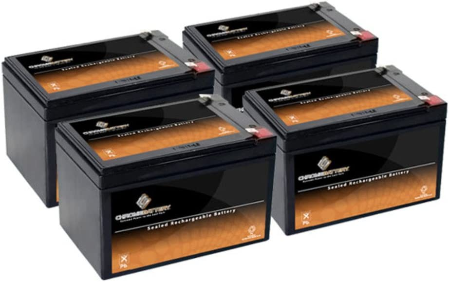 12V 12AH SLA Battery replaces gp12120 ps-12120 wp12-12 gp12110f2 ps12100 (4 Pack) 61u2Bp0KAv3L