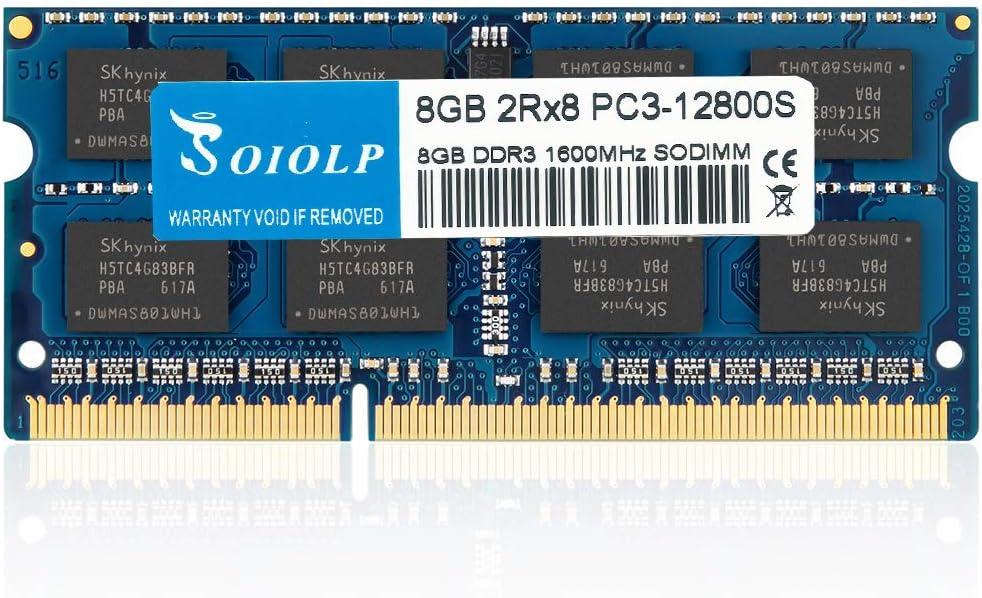 BPX 8GB DDR3L 1600 SODIMM DDR3 PC3L-12800 2Rx8 PC3L-12800s 1600MHz Ram Laptop 1.35V CL11 204-Pin Non-ECC Unbuffered Dual Rank Memory Sticks for Computers Upgrade Module