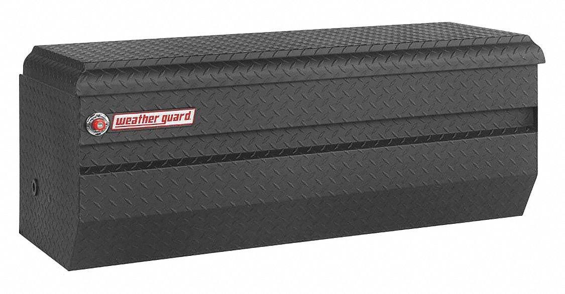 Aluminum Chest Box, Black, Hinged, 13.1 cu. ft.