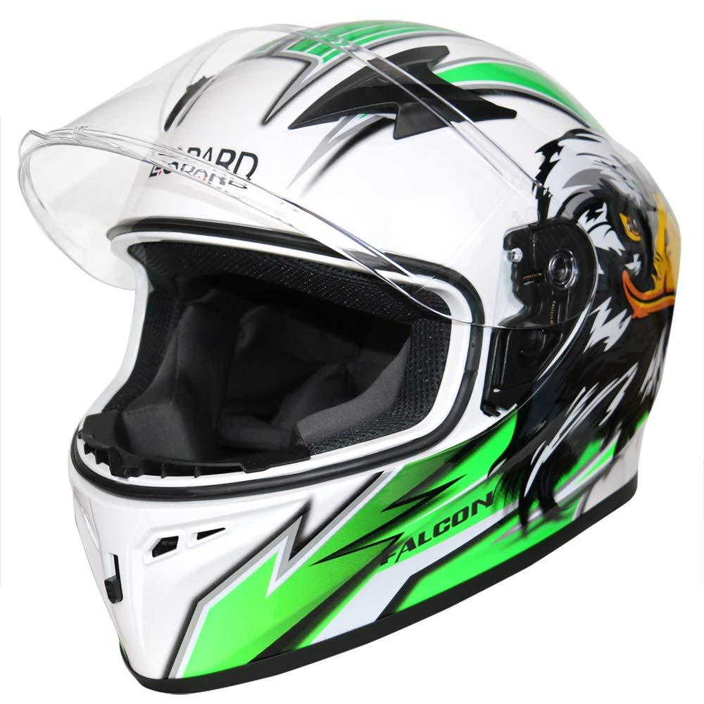 Leopard LEO-817 Falcon Full Face Motorbike Motorcycle Crash Helmet Road Legal #5 Hawk Blue M 57-58cm