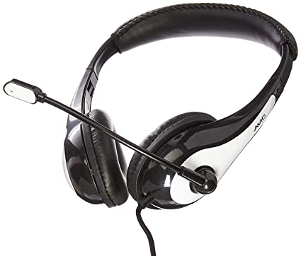 bc7d75c9a79 Amazon.com: Avid Education 1EDU-AE36WH-ITE Headphone with Boom Microphone, Single  Plug, White: Electronics