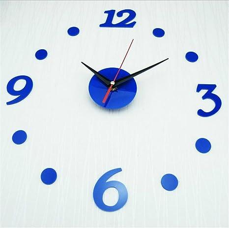 Relojes de Pared Cuarzo Quiet DIY Sala De Estar Colgante Reloj De La Decoración De La
