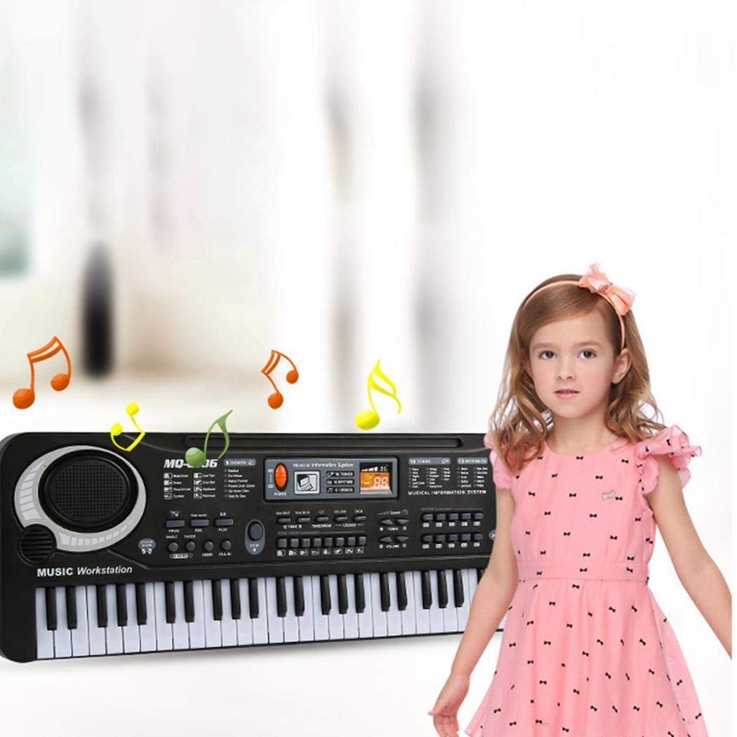 MUDEREK Baby Music Instruments Electronic Keyboard Piano Kids Learning Toys with Mic Pianos & Keyboards-Without Battery