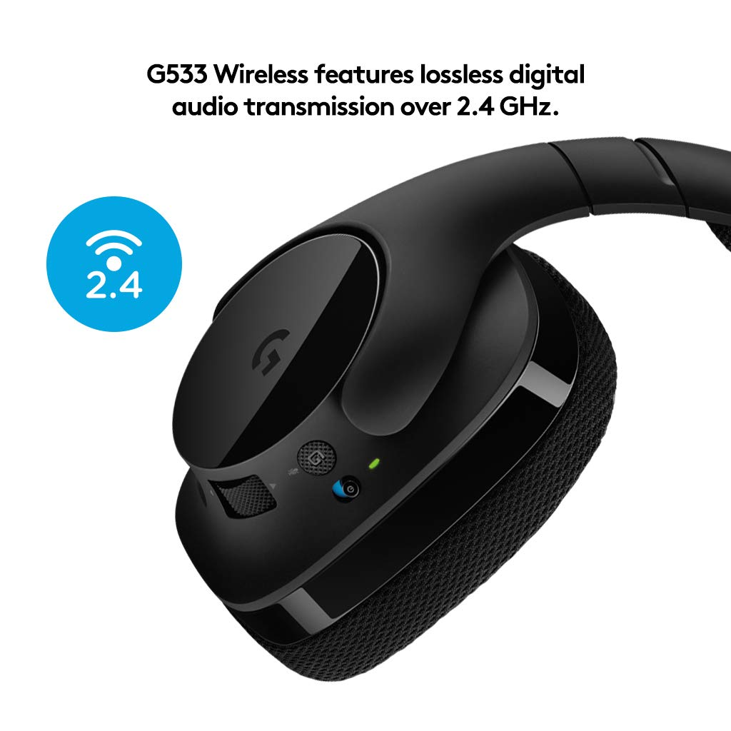 a69c41ca3e6 Logitech G533 Gaming Headset with Wireless DTS 7.1 Surround Sound, Black:  Amazon.co.uk: Computers & Accessories