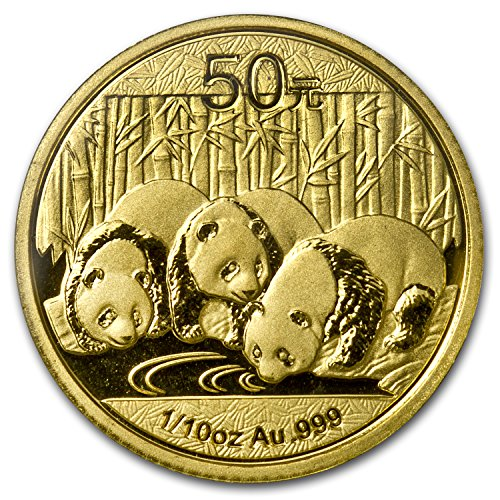 - 2013 CN China 1/10 oz Gold Panda BU (Sealed) Gold Brilliant Uncirculated