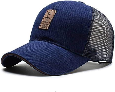 SYQY Gorra de Malla Azul Marino para Hombre Gorra de béisbol de ...