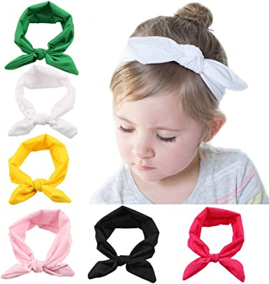 My Little Baby 6 pcs Baby Elastic Hair Hoops Headbands and Girls Fashion Soft Hairbands