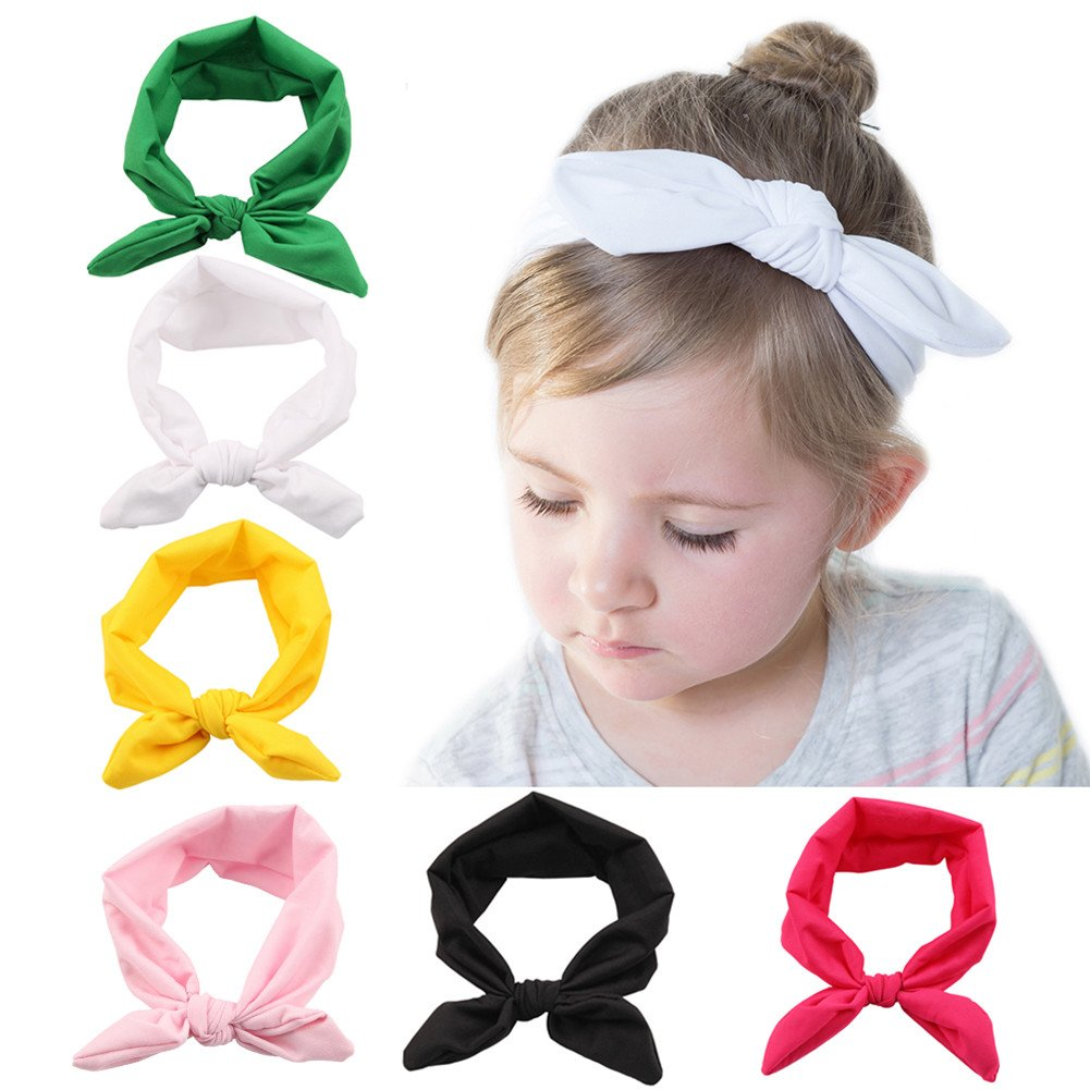 Roewell Baby Elastic Hair Hoops Headbands and Girl's Fashion Soft Headbands (6 Pack) by Roewell