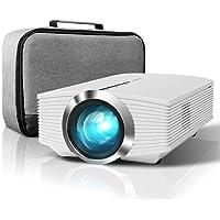 Vidéoprojecteur, ELEPHAS 2400 Lumens LCD Mini Projecteur Portable, Supporte 1080P Rétroprojecteur avec Fire TV/HDMI/VGA/USB Ports, Compatible iPhone/Smartphone/PC/PS4/Xbox (Blanc)