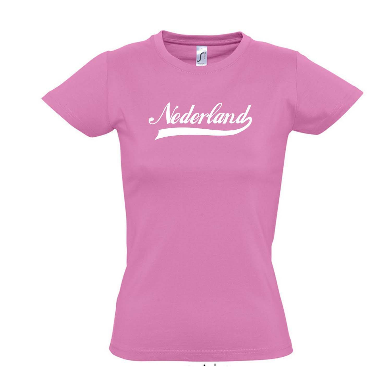 Nederland Oldschool Holland Oranje L/ÄNDERSHIRT EM WM FAN Trikot S-XXL Damen T-Shirt