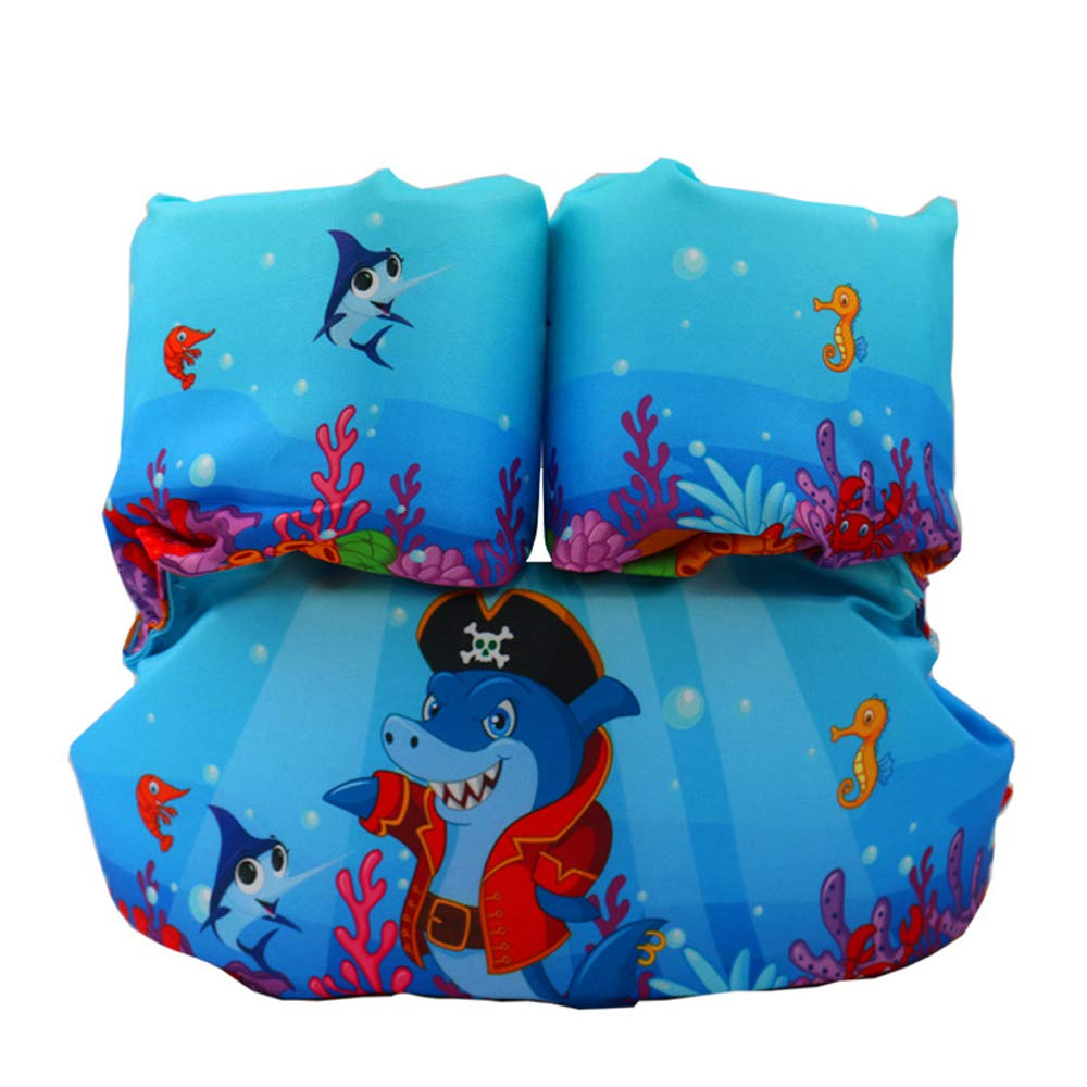 Toddler Kids Swim Life Vest,Baby Swim Float Jacket Swimming Training Life Jacket,Kids Flotation Device,Swim Aid Floater,30-50 lbs (Pirate Shark)