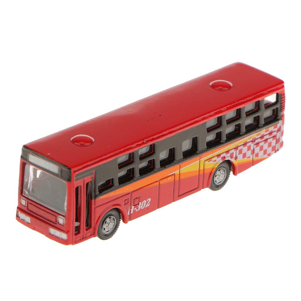 6pcs Diecast Modell Bus Streetscape Layout Eisenbahn Landschaft DIY N Skala
