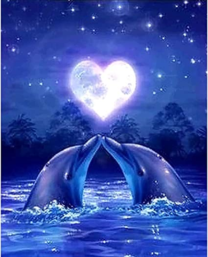 4 pack Dolphin Diamond Painting Full Drill Rhinestone Art Painting by Numbers SOSPIRO DIY 5D Diamond Painting Kits for Adults Perfect for Gift Home Wall Decor