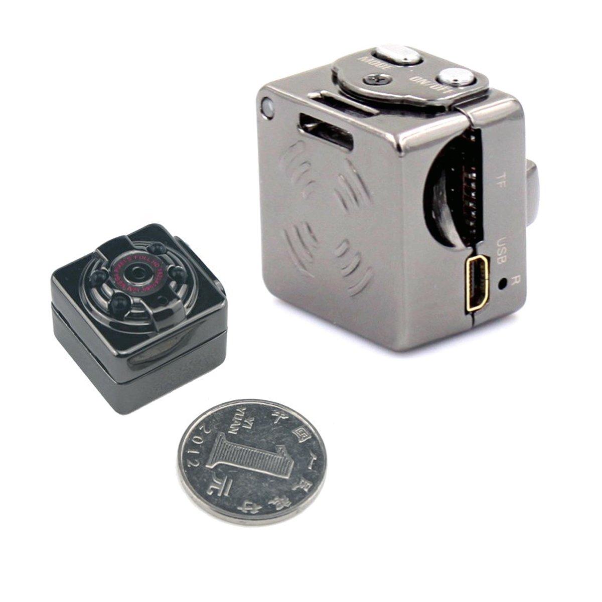 Mini Cámara de mano Espía HD 1080P PC Sport Interiores/Exteriores, Mini cámara escondida, grabador de voz y video con visión nocturna infrarroja.