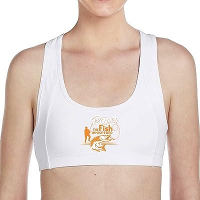 Tinger Papa The Fish Whisperer Women Sports Bras - High Impact Workout Gym Activewear Bra