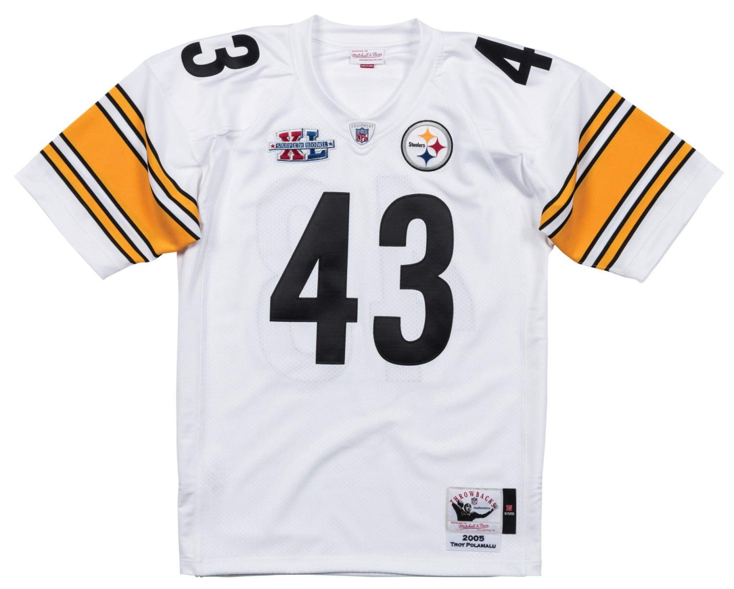 Mitchell & Ness Troy Polamalu ピッツバーグスティーラーズ NFL 本物 2005 ジャージ 3XL/56  B07GXY8NC1