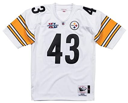 bbd0e754abd Image Unavailable. Image not available for. Color  Mitchell   Ness Troy  Polamalu Pittsburgh Steelers NFL Authentic ...