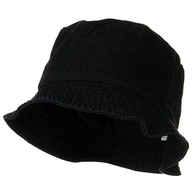 a7d6cd91 Garment Washed Cotton Twill Bucket Hat - Black SM