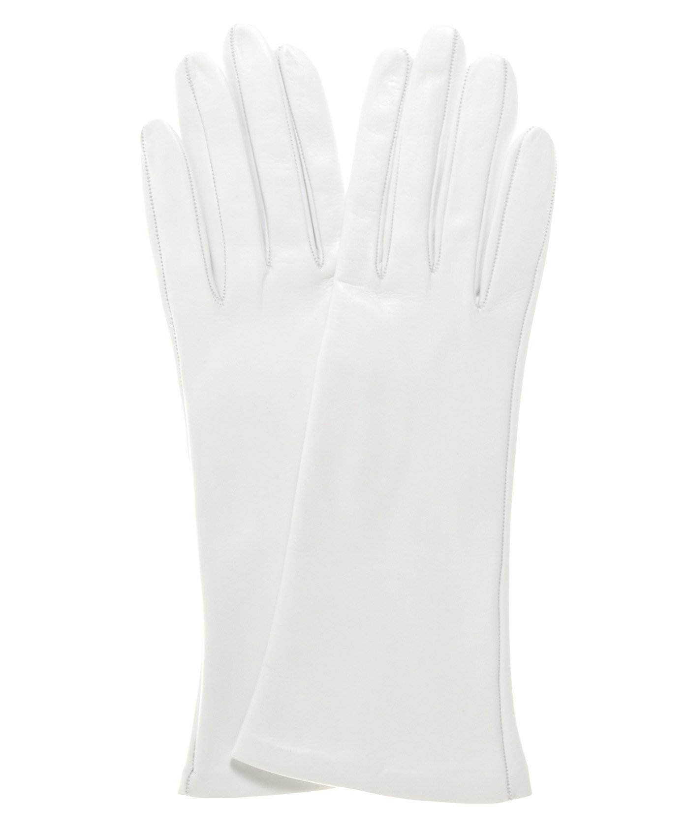 Fratelli Orsini Women's Italian Silk Lined 4-Button Length Bridal Gloves Size 7 Color White by Fratelli Orsini