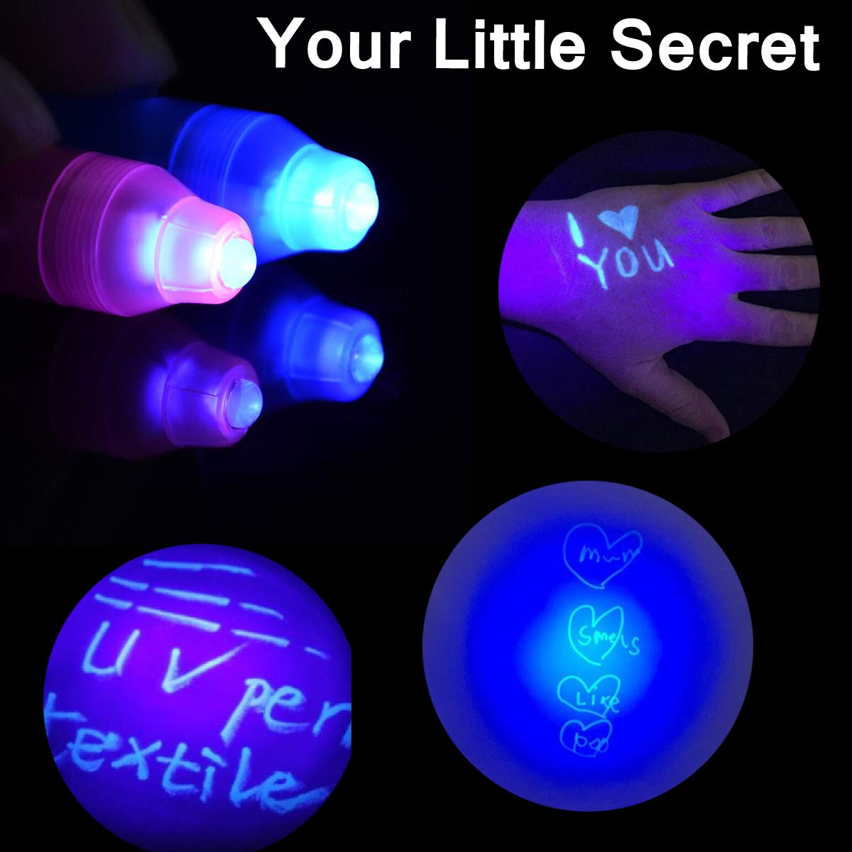 Joyjam Toys for 3-8 Year Old Boys Girls Invisible Ink Pen Spy Gear for Kids Magic Pen with UV Light Party Favors for Kids Christmas Novelty Gifts Stocking Stuffers (12 Pack) by Joyjam (Image #5)