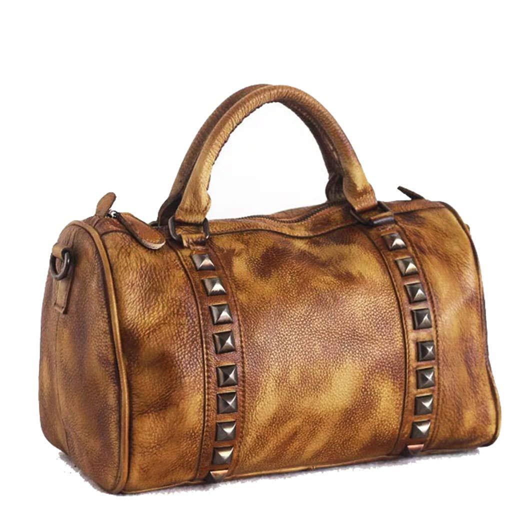 Läderväska läderväska diagonal väska läderfärg väska axelväska handväska earthyyellow
