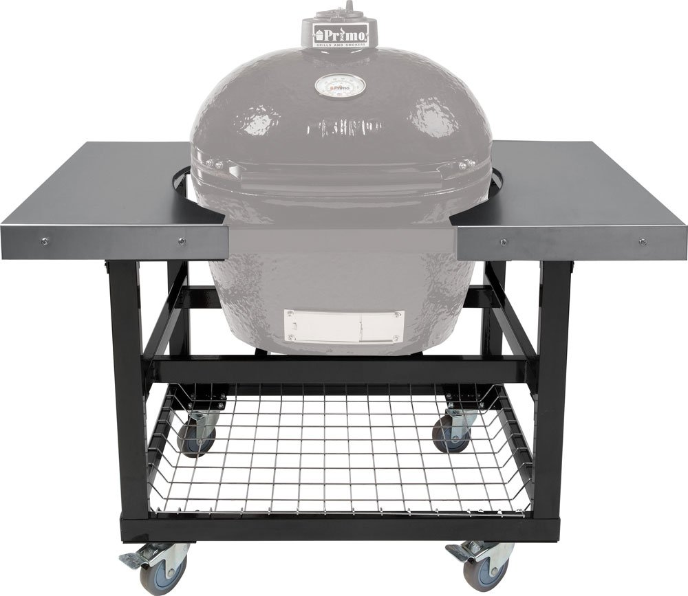 Primo Ceramic Grills Cart with Basket and SS Side Shelves for Oval LG 300 XL 400
