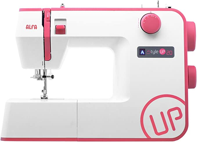 Alfa Style UP 20 - Máquina de Coser, Color Rosa: Amazon.es: Hogar