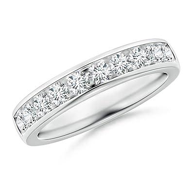 b4258c034738e2 Channel-Set Half Eternity Diamond Wedding Band for Women in Platinum (2.6mm  Diamond