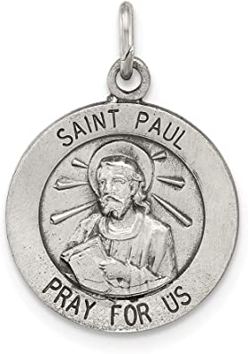 925 Sterling Silver St Peter Medal 15mm