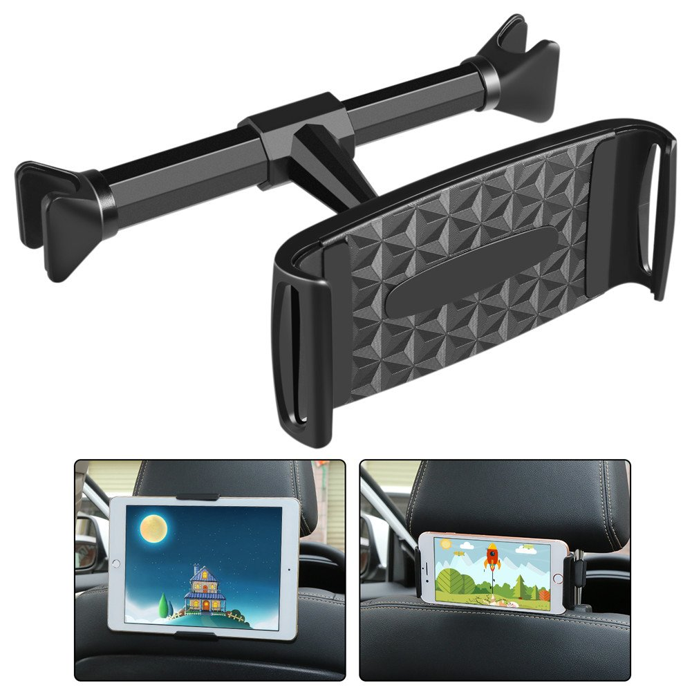 Car Headrest Mount Dehui Universal Car Tablet Holder For Ipad/Ipad Mini/Samsung Galaxy Tabs/Amazon Kindle Fire HD/Other Devices 4''-10.1'' Cell Phone or Tablet by Dehui