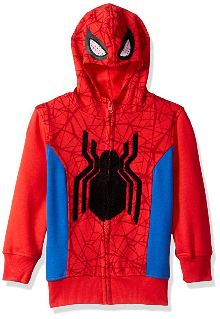 Marvel Little Boys' Hooded Sweatshirt, Red, 5/6