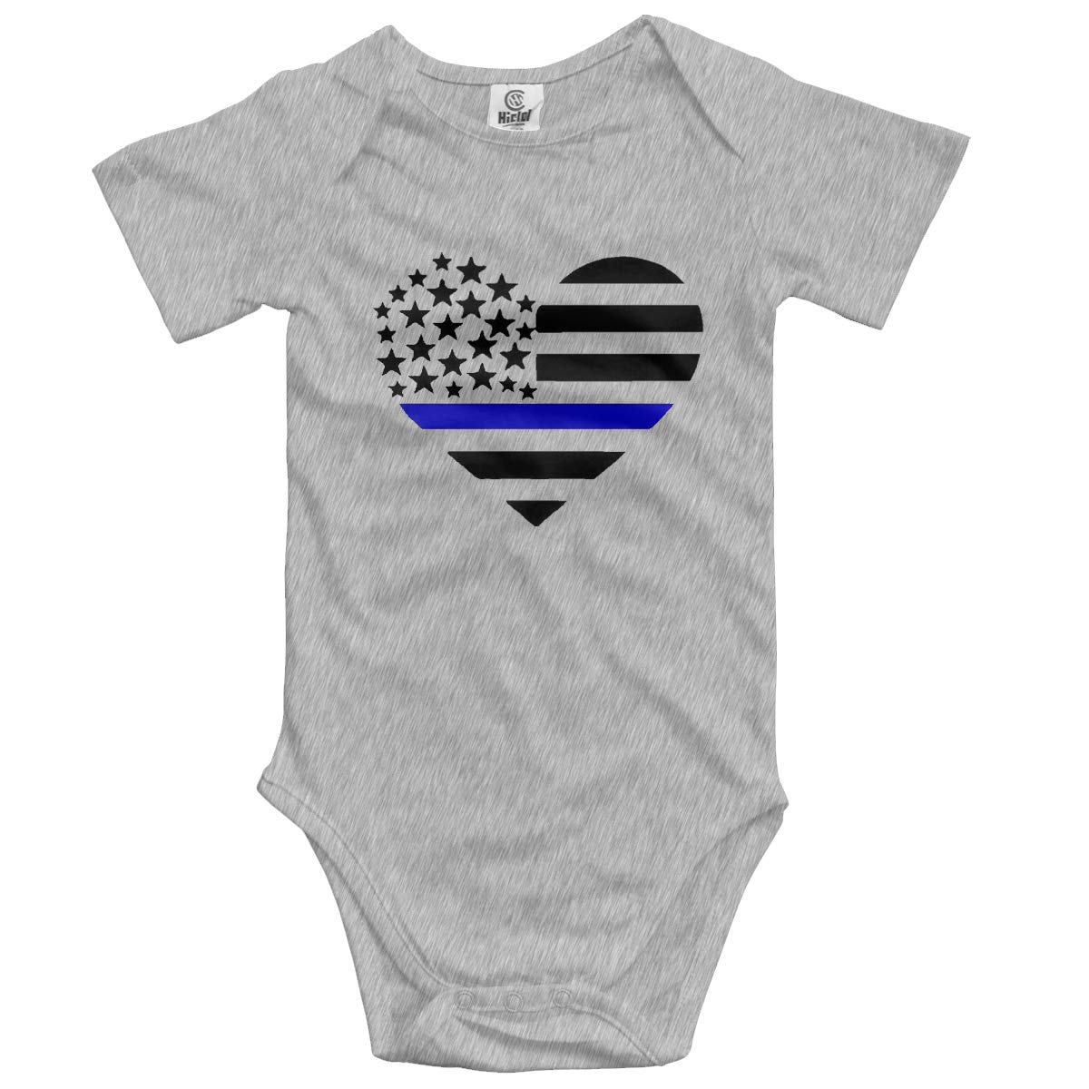 VANMASS Babys Blue Lives Matter Police Flag Short Sleeve Bodysuits Baby Playsuit