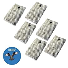 HQRP 6-pack Filter for Bionaire BCM5520 BCM5520RC BCM5520RC-U BCM5521 BCM5555 BCM7255 BCM7255-CN BCM7510 Humidifier + HQRP Coaster