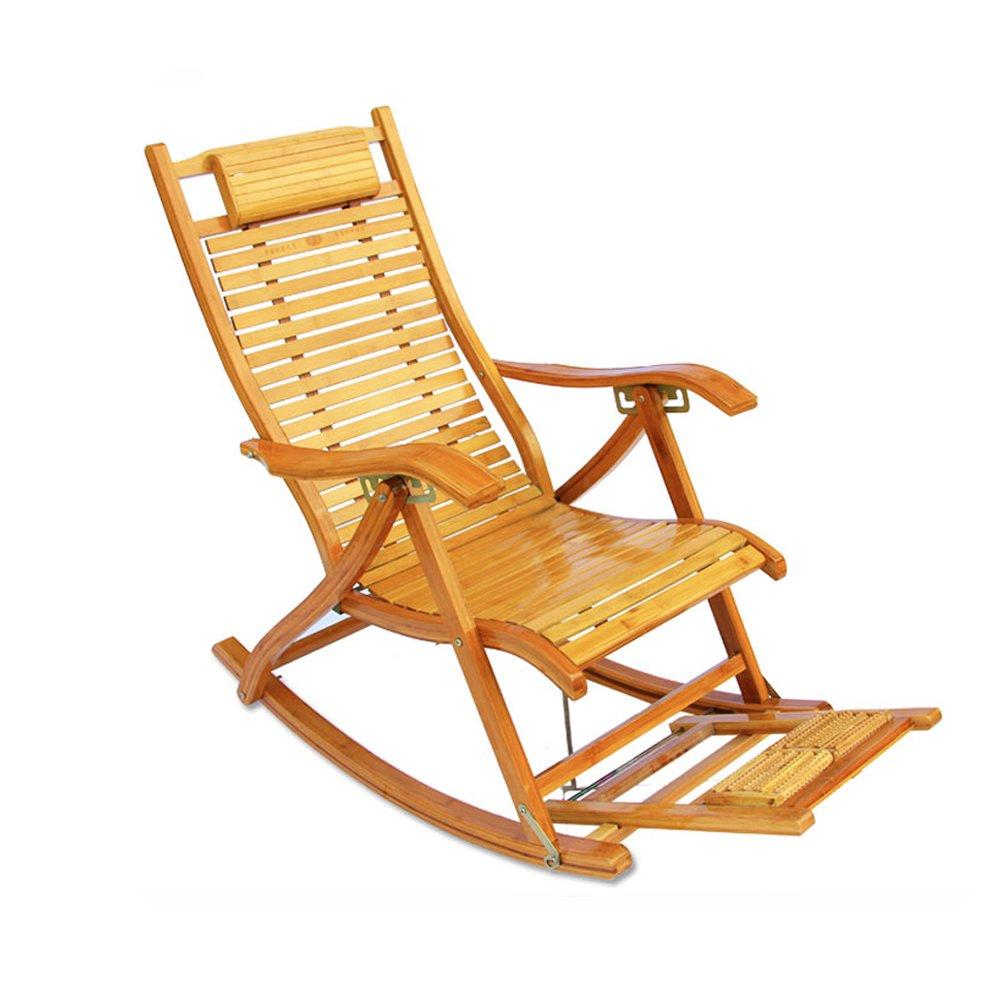 Faltender Bambusschaukelstuhl Kühle Mittagspause-Aufenthaltsraumstuhl-im Freienstrand, Der Kampierenden Stuhl Fischt
