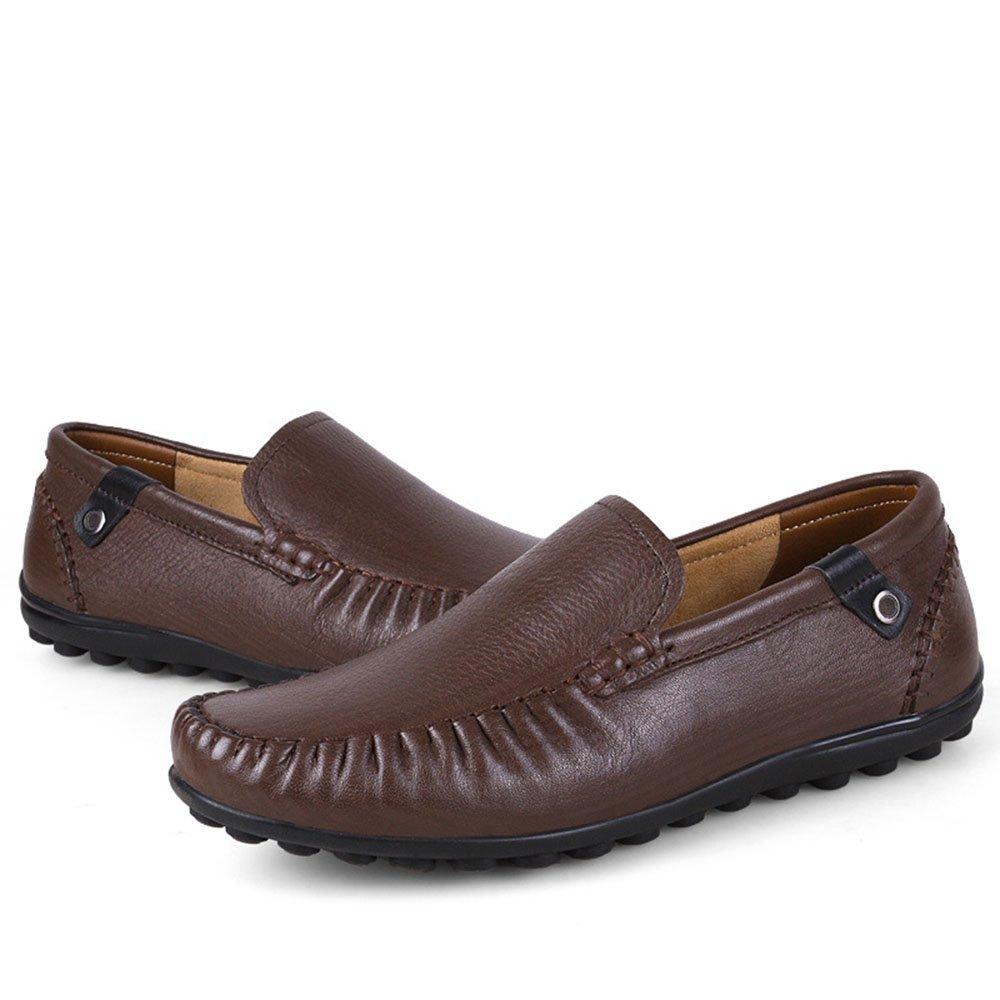 AFCITY Männer Business Casual Driving Laofer Breathable Weiche Oberfläche Driving Casual Slip auf Schuhe Klassischer Stiefelschuh Dark Braun 44a0d7
