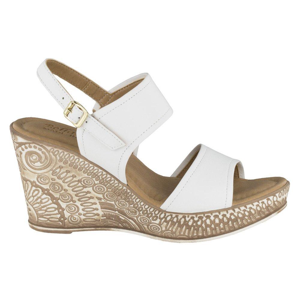 Bella Vita Women's Nicola Wedge Sandal B01A3HO3WU 10 2E US|White