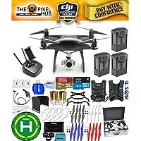 DJI Phantom 4 Pro Black Obsidian Edition Drone PRO BUNDLE With Aluminum Case, Vest Strap, Extra Props, Filter Kit Plus Much More (3 Batteries)